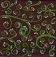 Brown green swirls