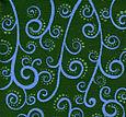 Blue green swirls