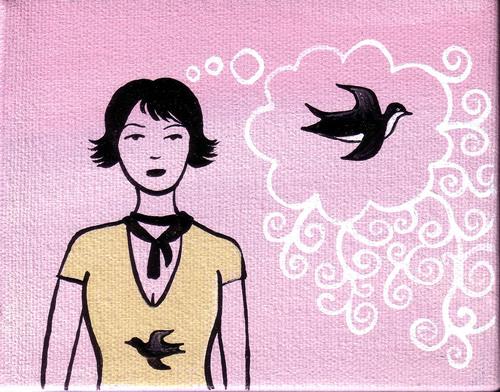 Bird girl dream