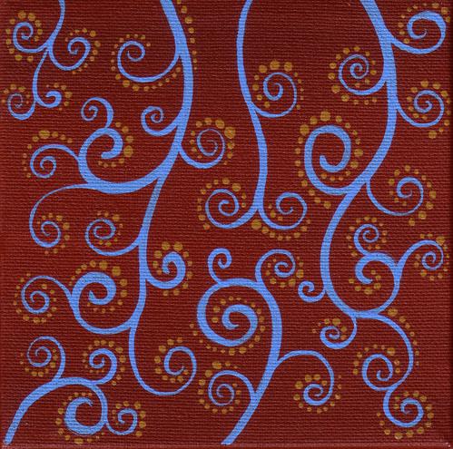 Blue brown swirls